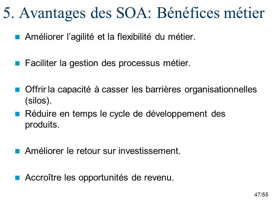 5. Avantages des SOA: Bénéfices métier