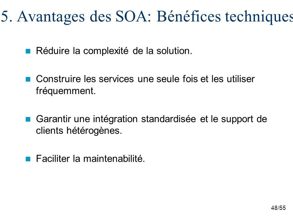 5. Avantages des SOA: Bénéfices techniques