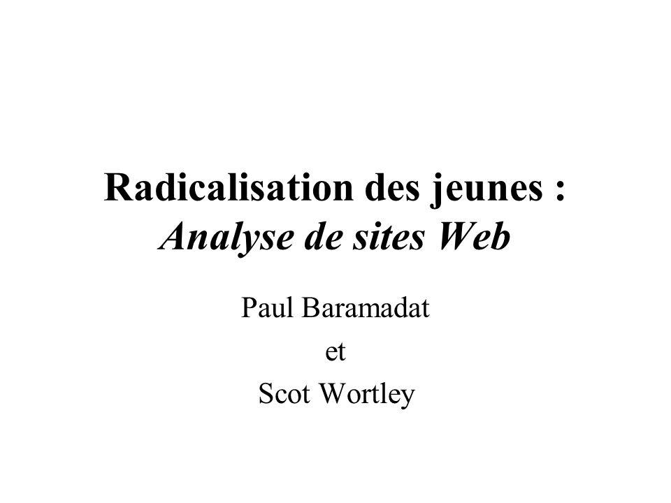 Radicalisation des jeunes : Analyse de sites Web