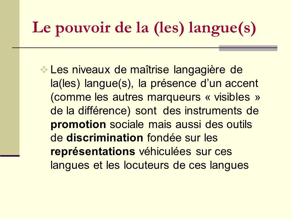 Le pouvoir de la (les) langue(s)
