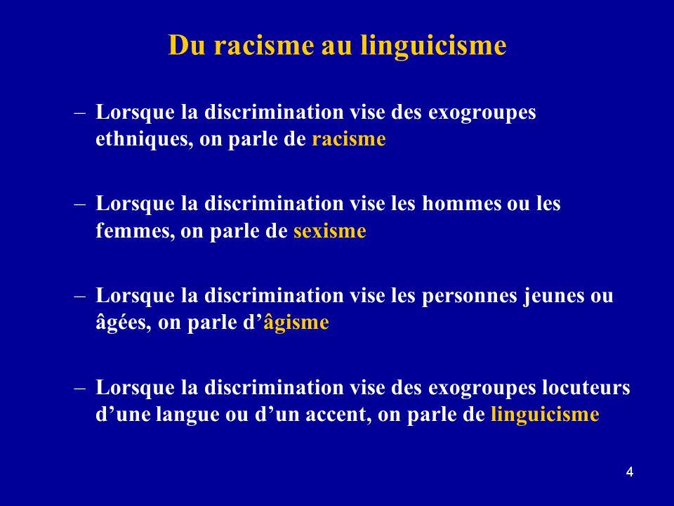 Du racisme au linguicisme