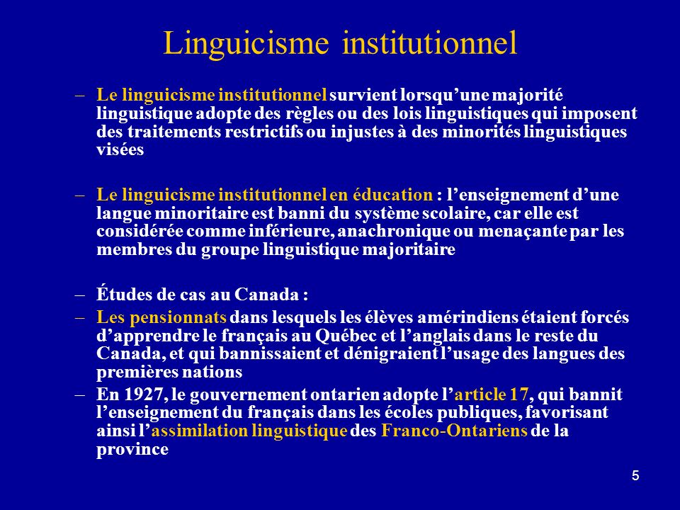 Linguicisme institutionnel
