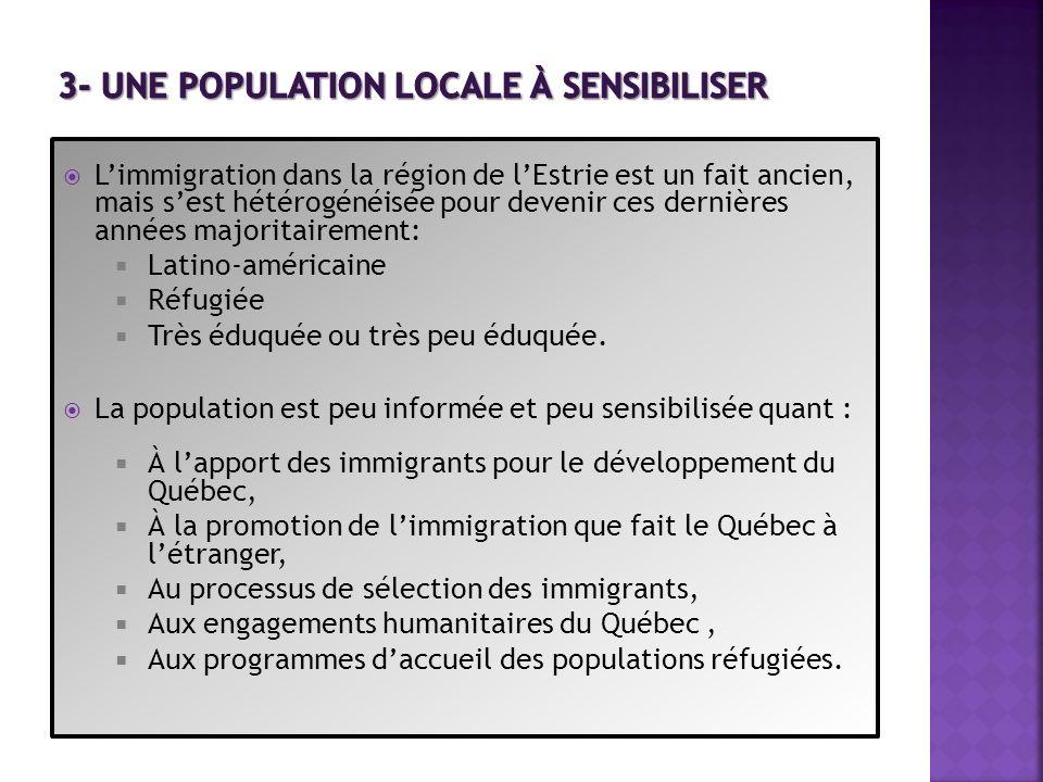 3- Une population locale à sensibiliser
