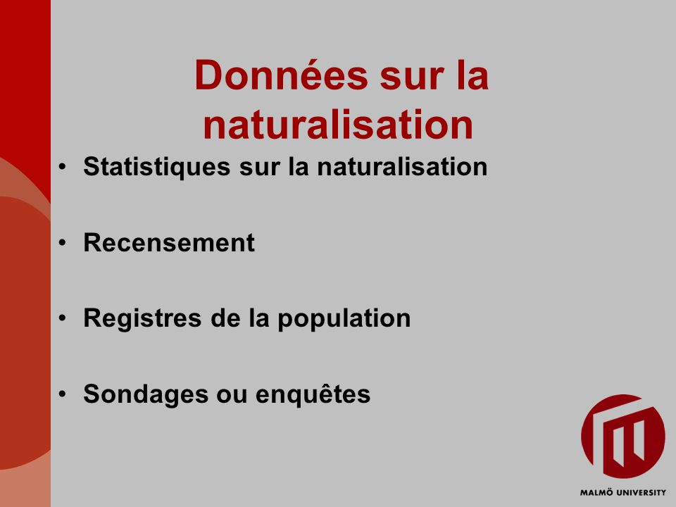 Données sur la naturalisation
