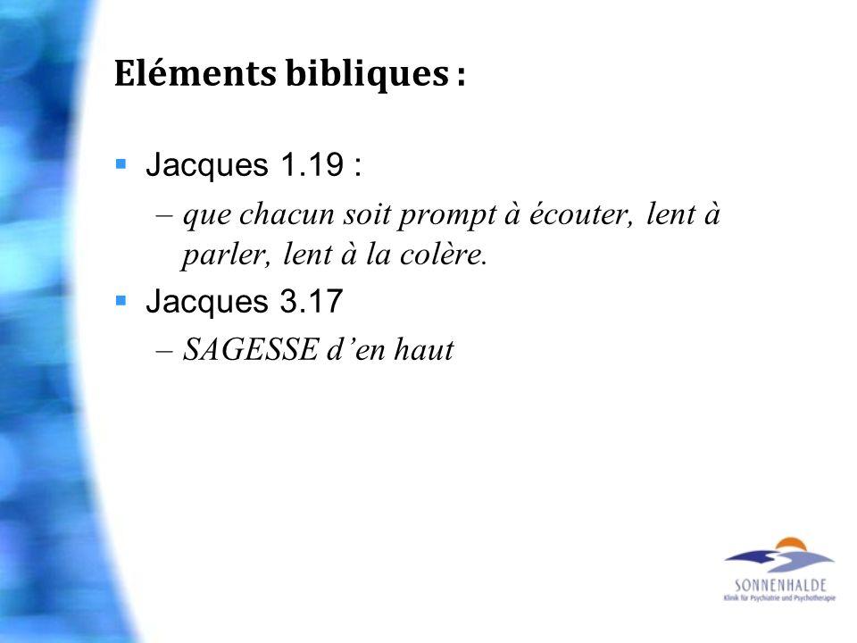 Eléments bibliques : Jacques 1.19 :