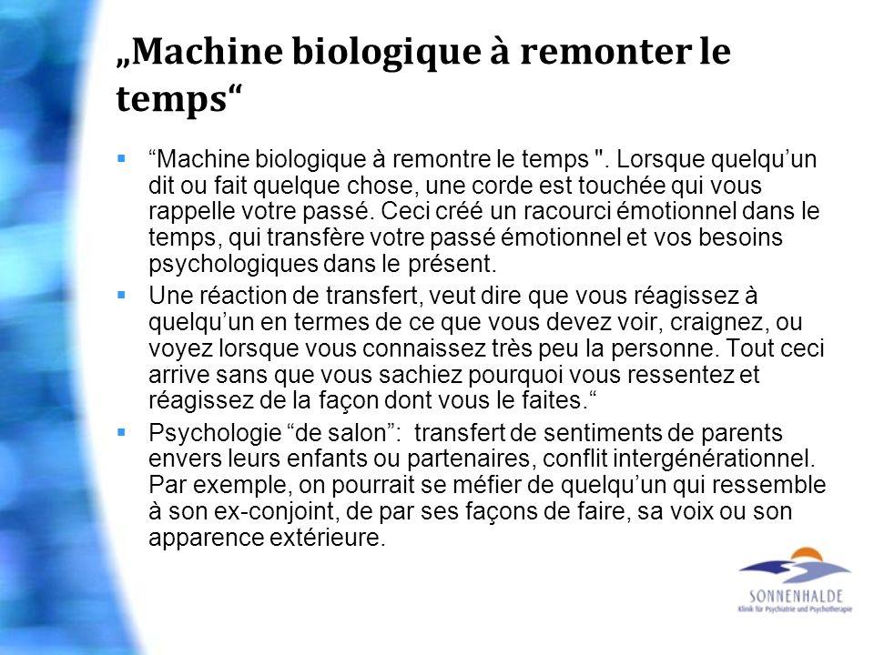 """""""Machine biologique à remonter le temps"""
