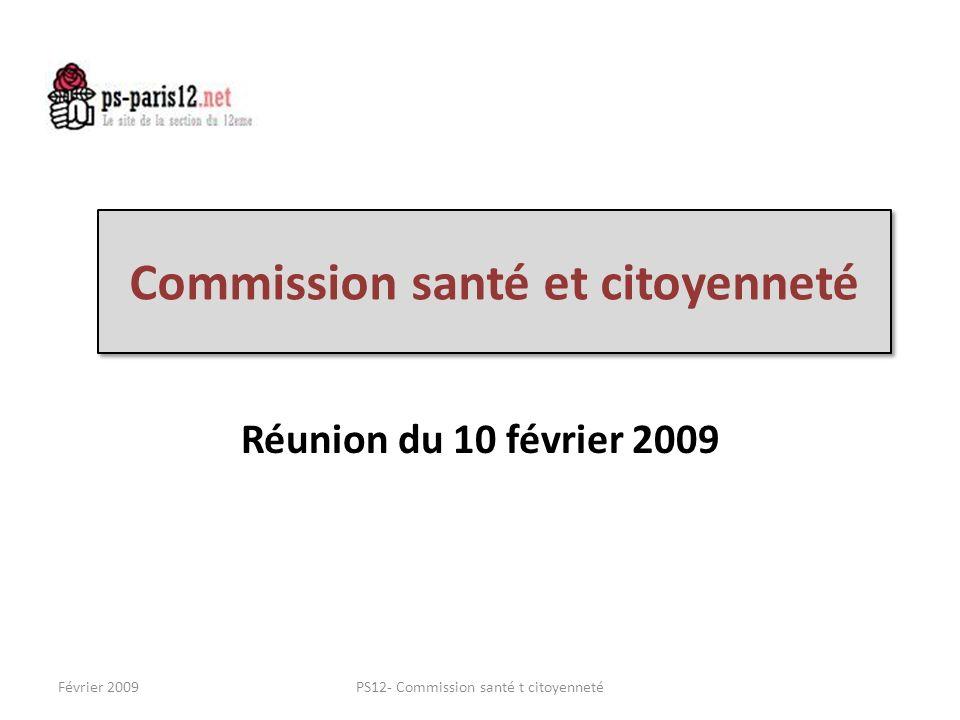 Commission santé et citoyenneté