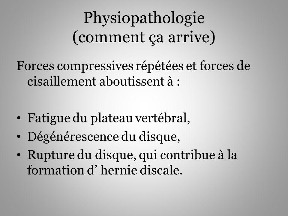 Physiopathologie (comment ça arrive)