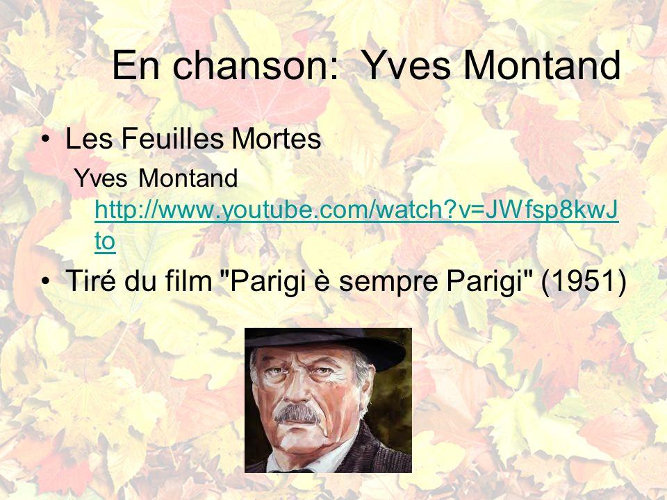 En chanson: Yves Montand