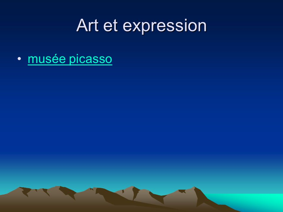Art et expression musée picasso
