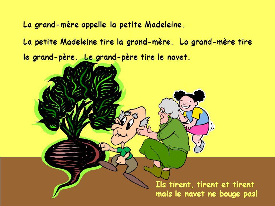 La grand-mère appelle la petite Madeleine.