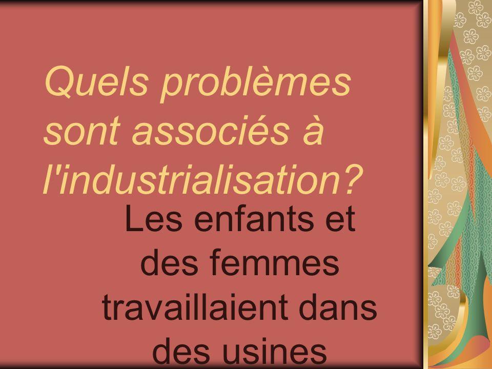 Quels problèmes sont associés à l industrialisation