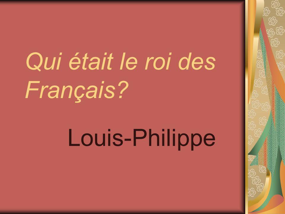 Qui était le roi des Français