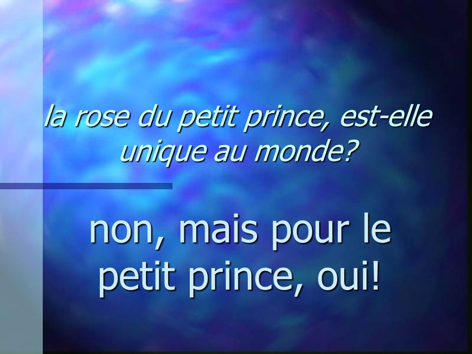 la rose du petit prince, est-elle unique au monde