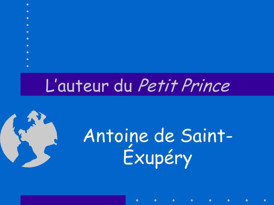 L'auteur du Petit Prince