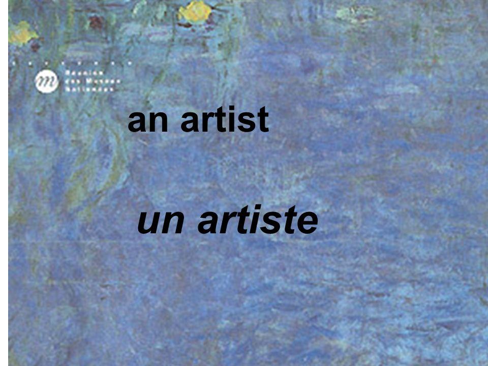 an artist un artiste