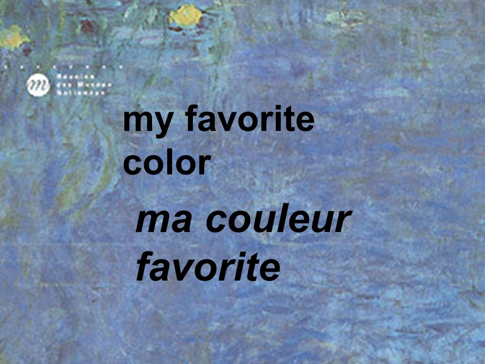 my favorite color ma couleur favorite