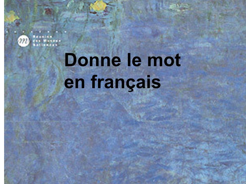 Donne le mot en français