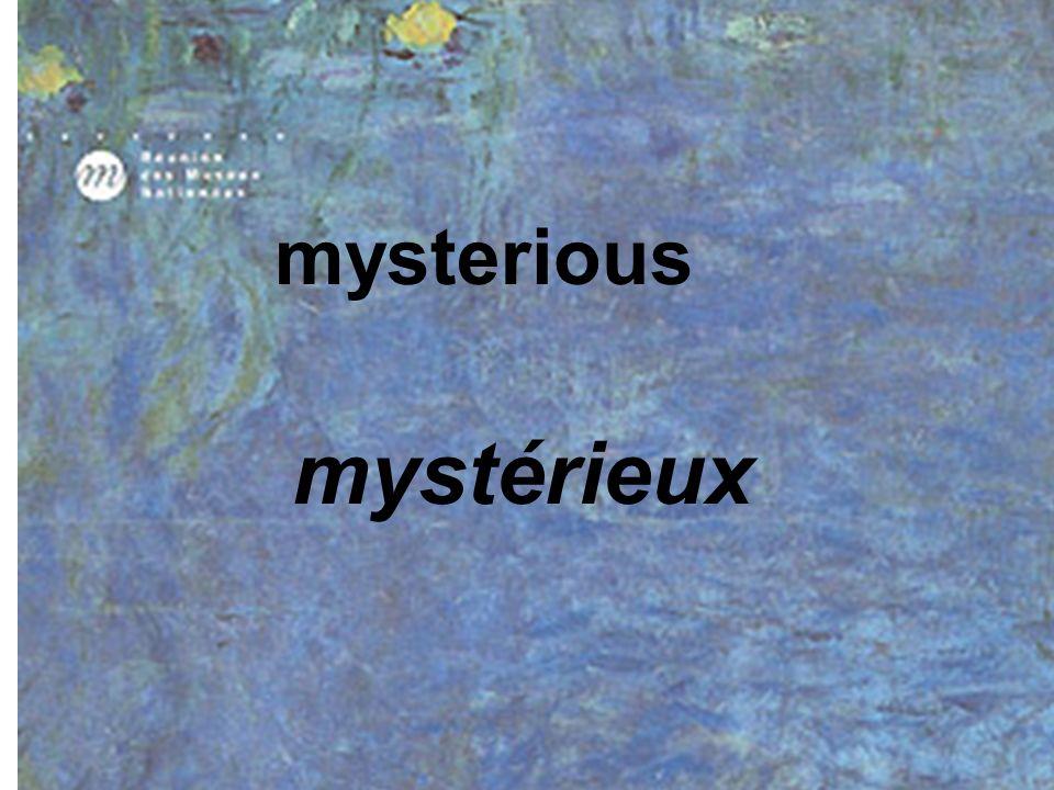 mysterious mystérieux