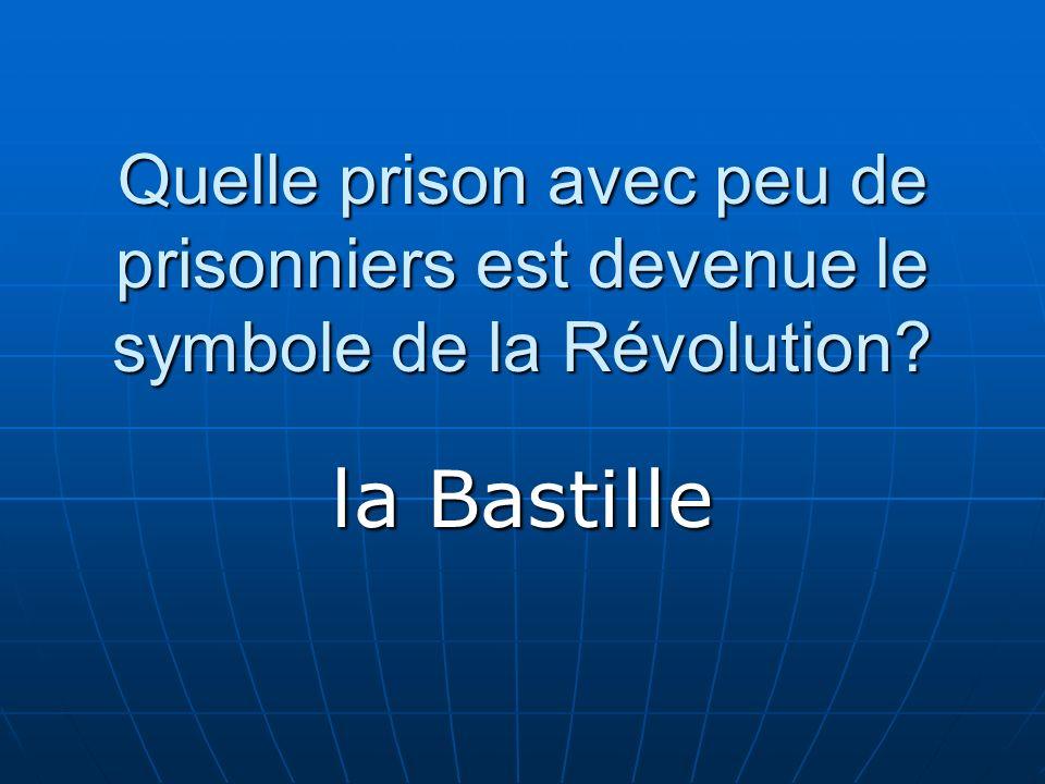 Quelle prison avec peu de prisonniers est devenue le symbole de la Révolution