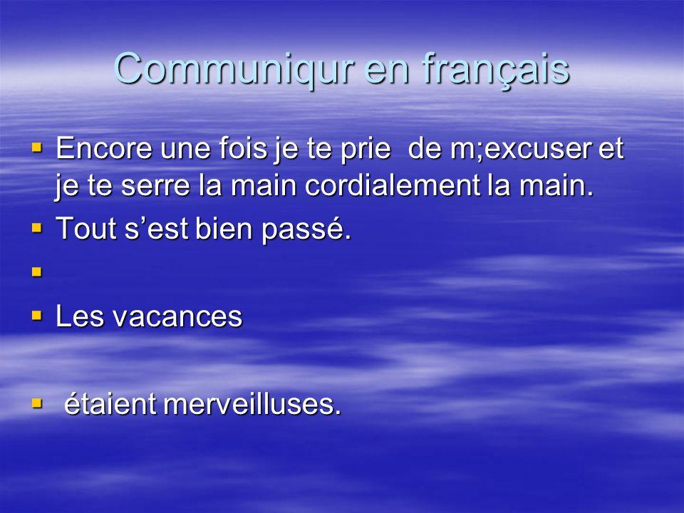 Communiqur en français
