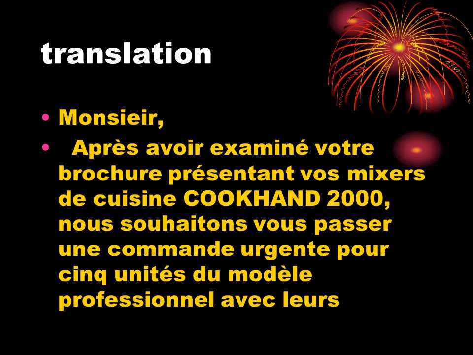 translation Monsieir,