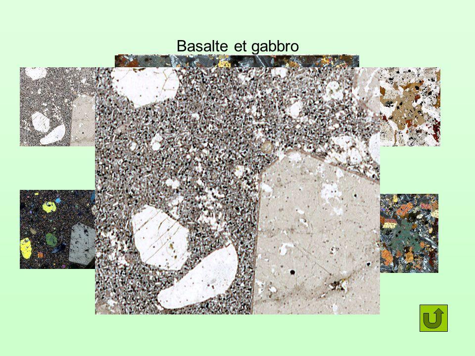 Basalte et gabbro