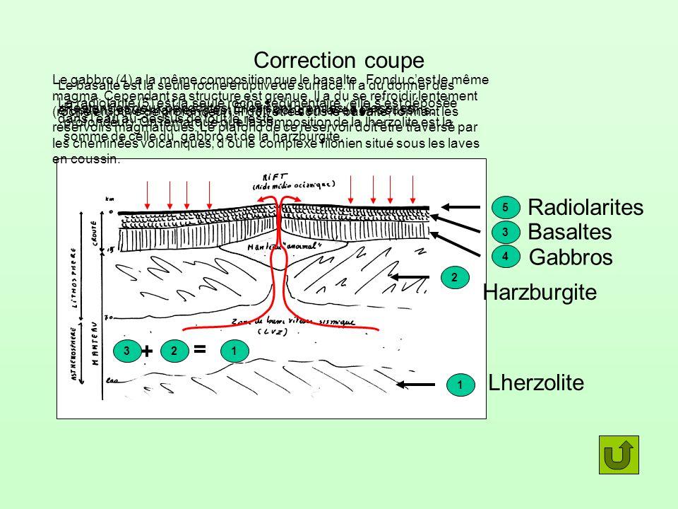Correction coupe Radiolarites Basaltes Gabbros Harzburgite = +