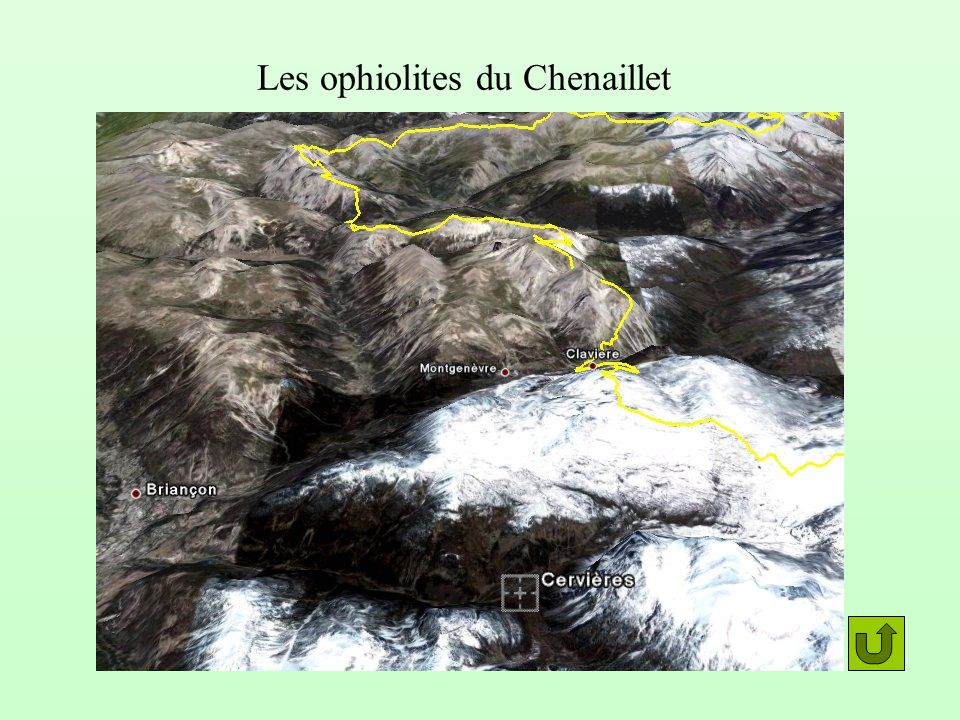 Les ophiolites du Chenaillet