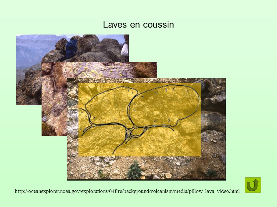 Laves en coussin http://oceanexplorer.noaa.gov/explorations/04fire/background/volcanism/media/pillow_lava_video.html.