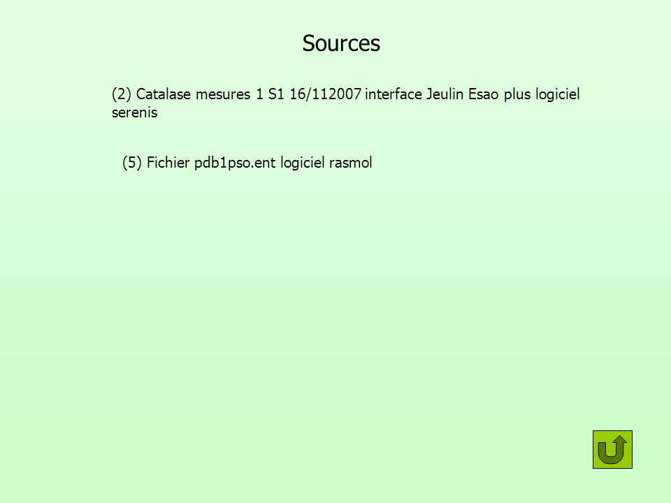 (5) Fichier pdb1pso.ent logiciel rasmol