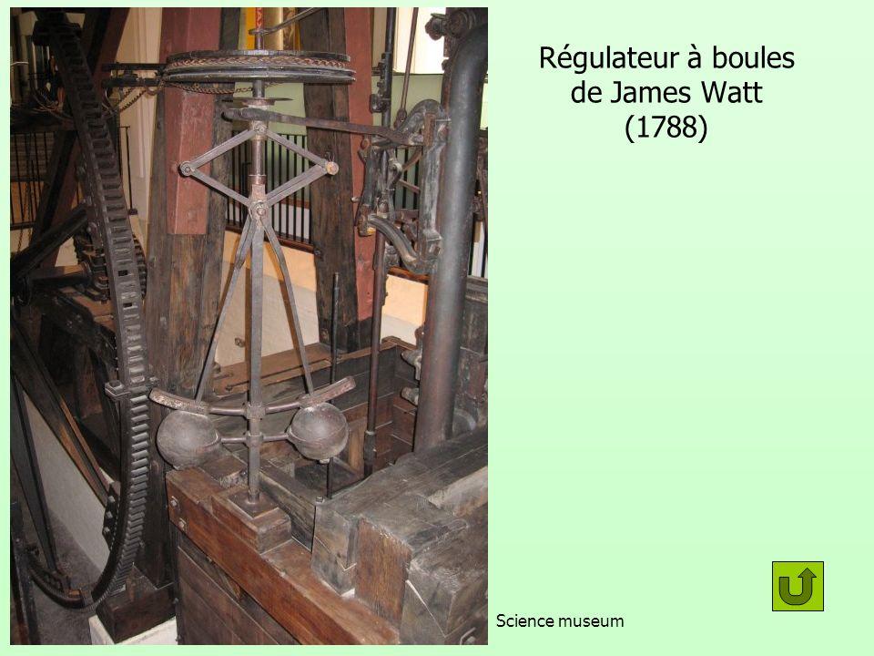 Régulateur à boules de James Watt (1788)