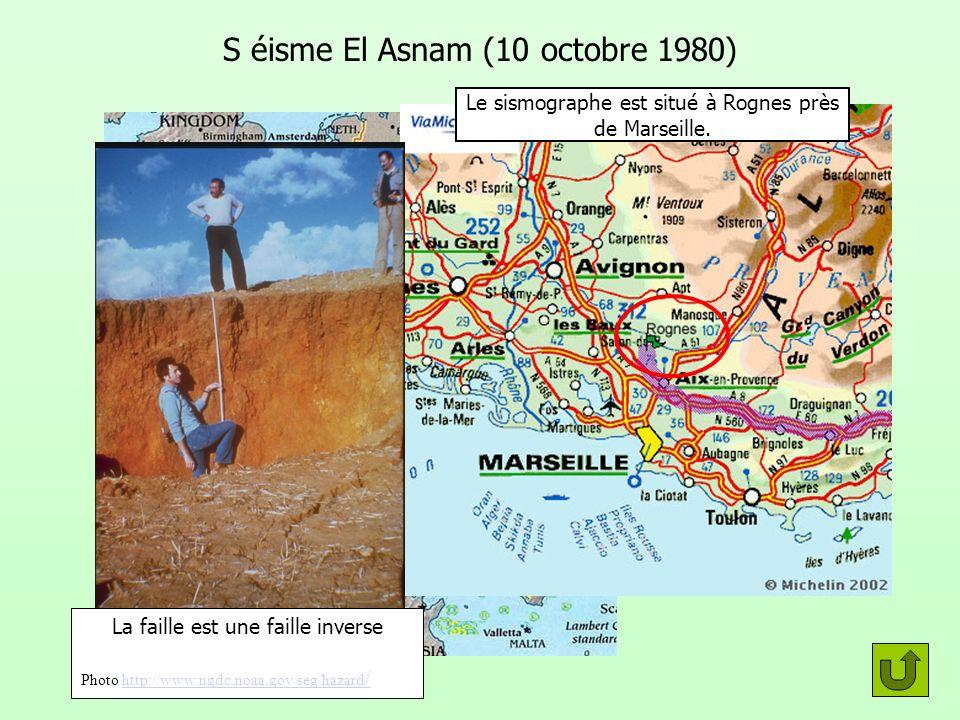 S éisme El Asnam (10 octobre 1980)