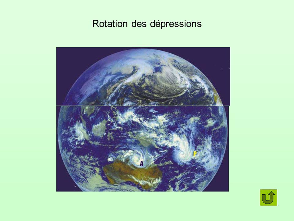 Rotation des dépressions