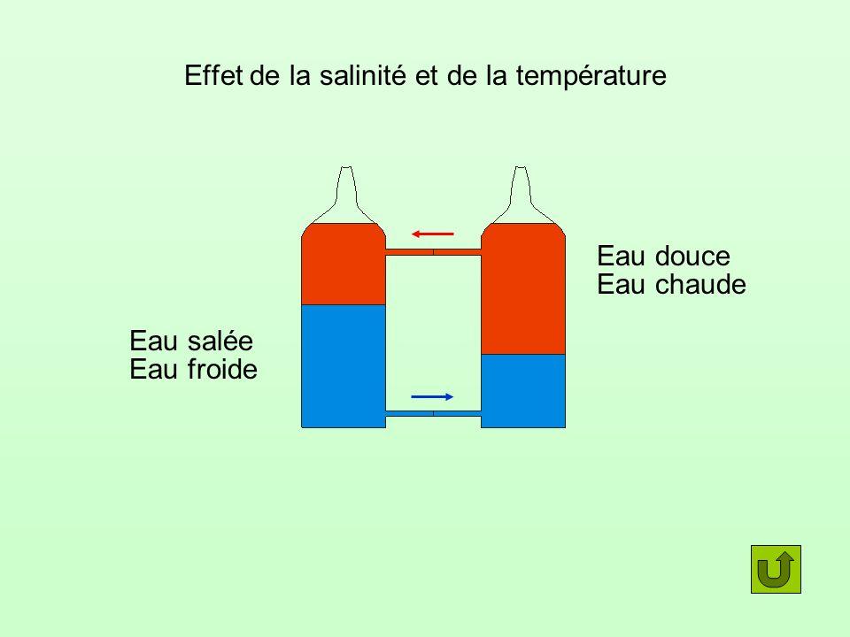 Effet de la salinité et de la température