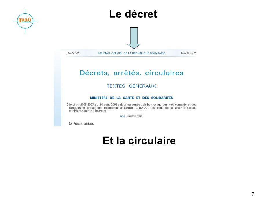 Le décret Et la circulaire