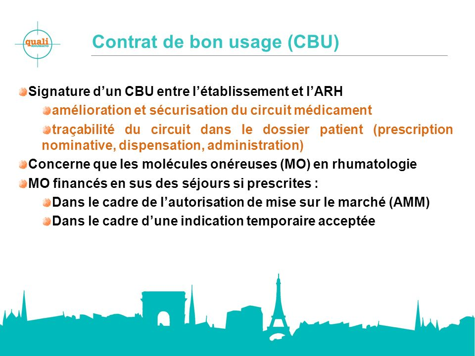 Contrat de bon usage (CBU)