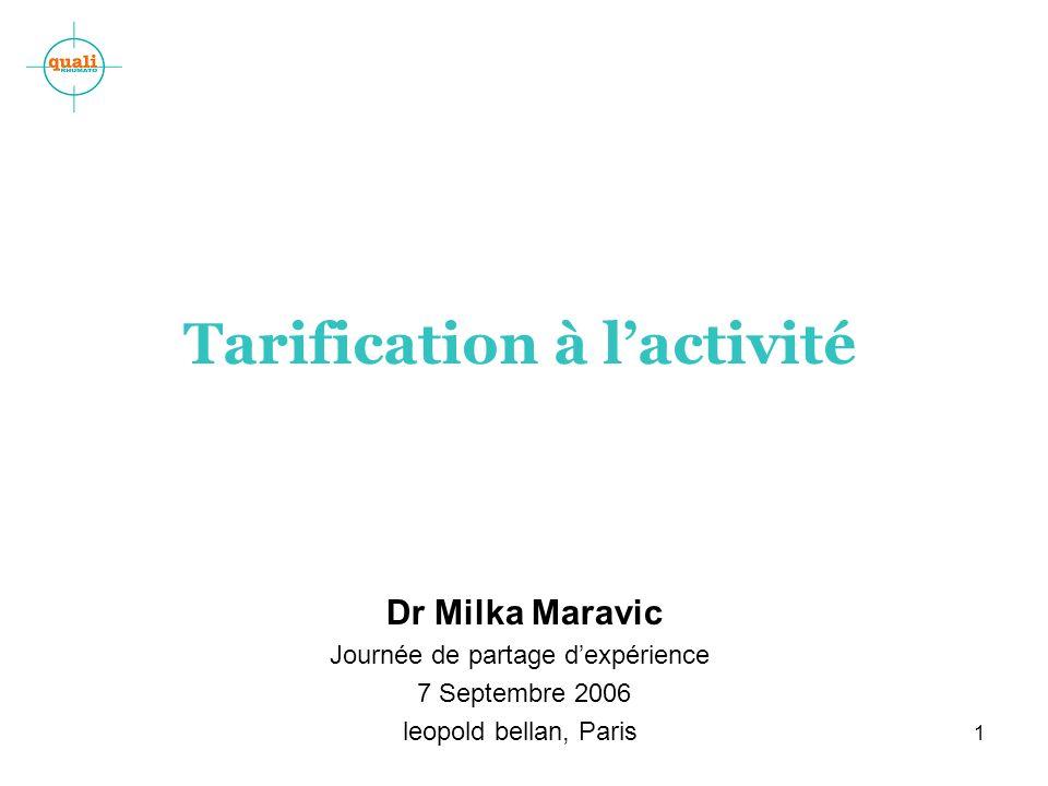 Tarification à l'activité