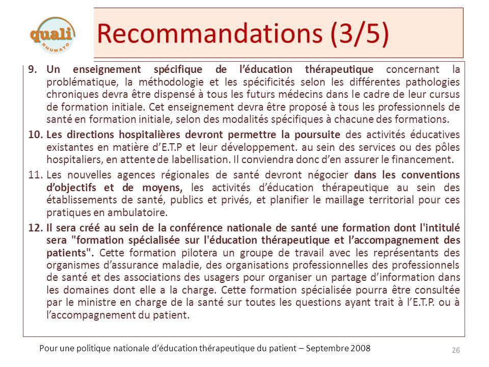 Recommandations (3/5)