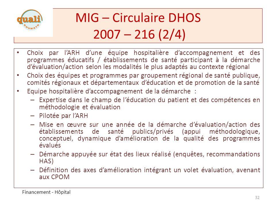 MIG – Circulaire DHOS 2007 – 216 (2/4)