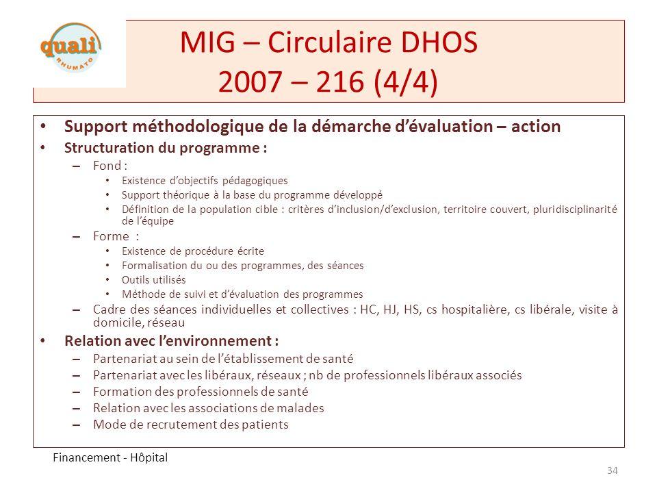 MIG – Circulaire DHOS 2007 – 216 (4/4)