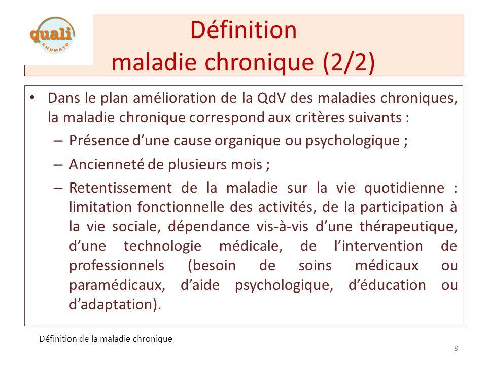 Définition maladie chronique (2/2)