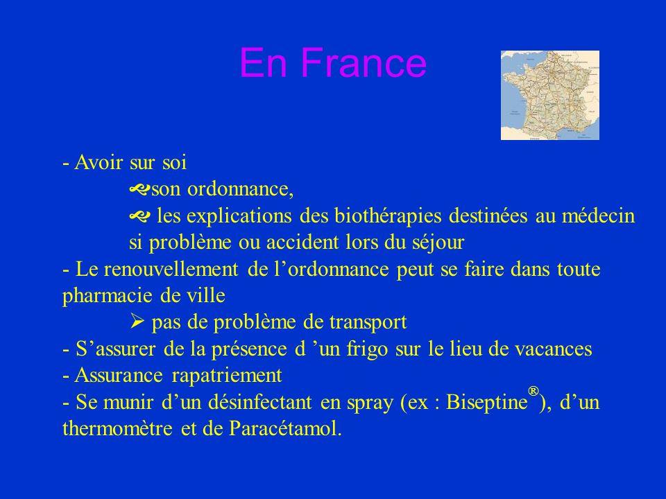 En France - Avoir sur soi son ordonnance,