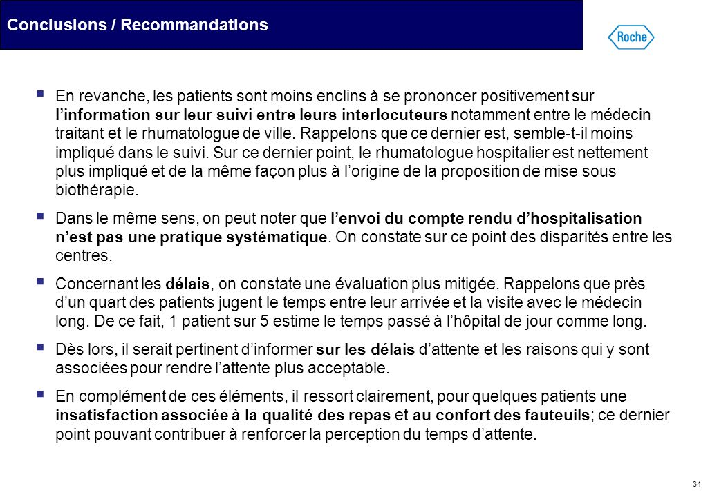 Conclusions / Recommandations
