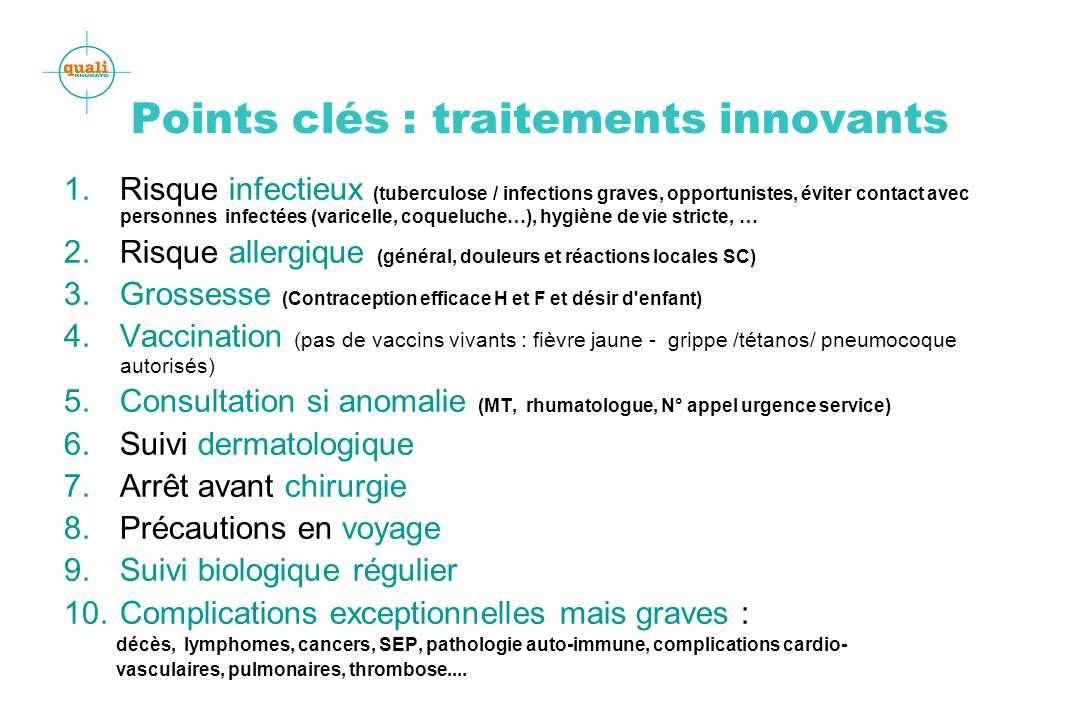 Points clés : traitements innovants