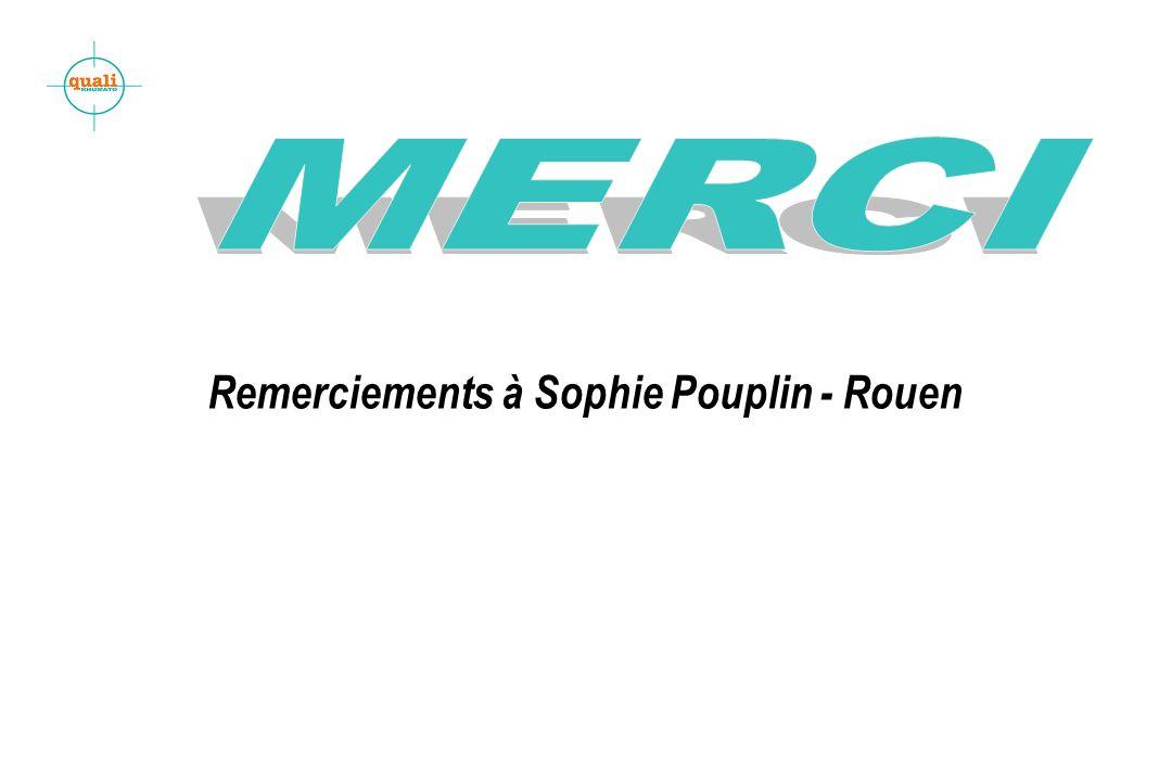 MERCI Remerciements à Sophie Pouplin - Rouen