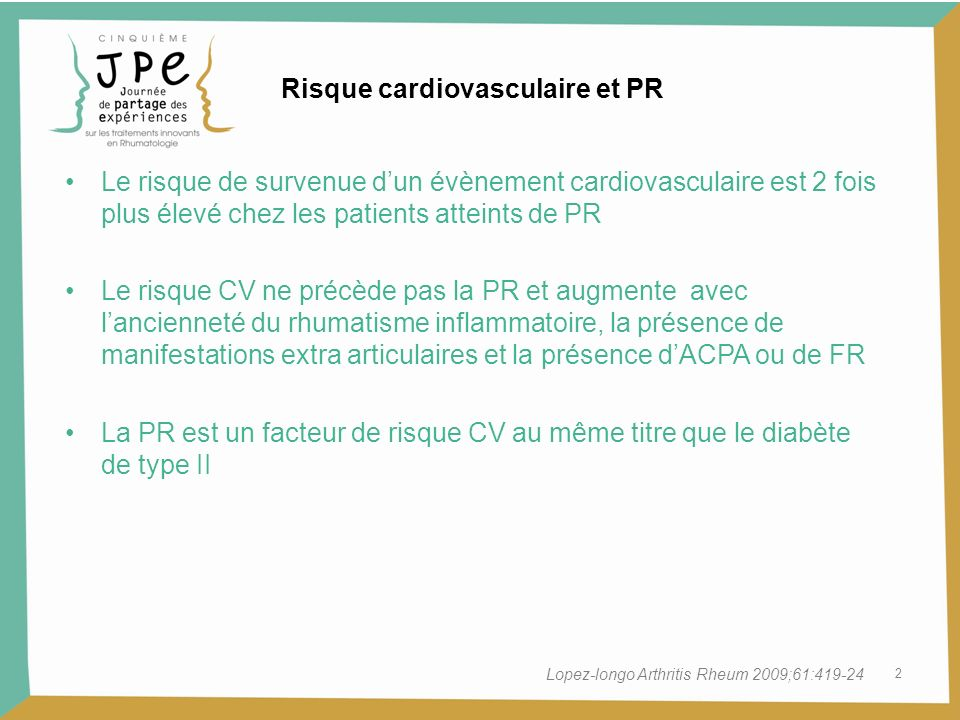 Risque cardiovasculaire et PR