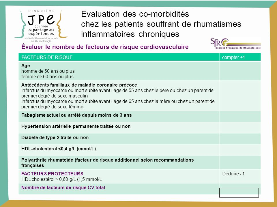 Evaluation des co-morbidités
