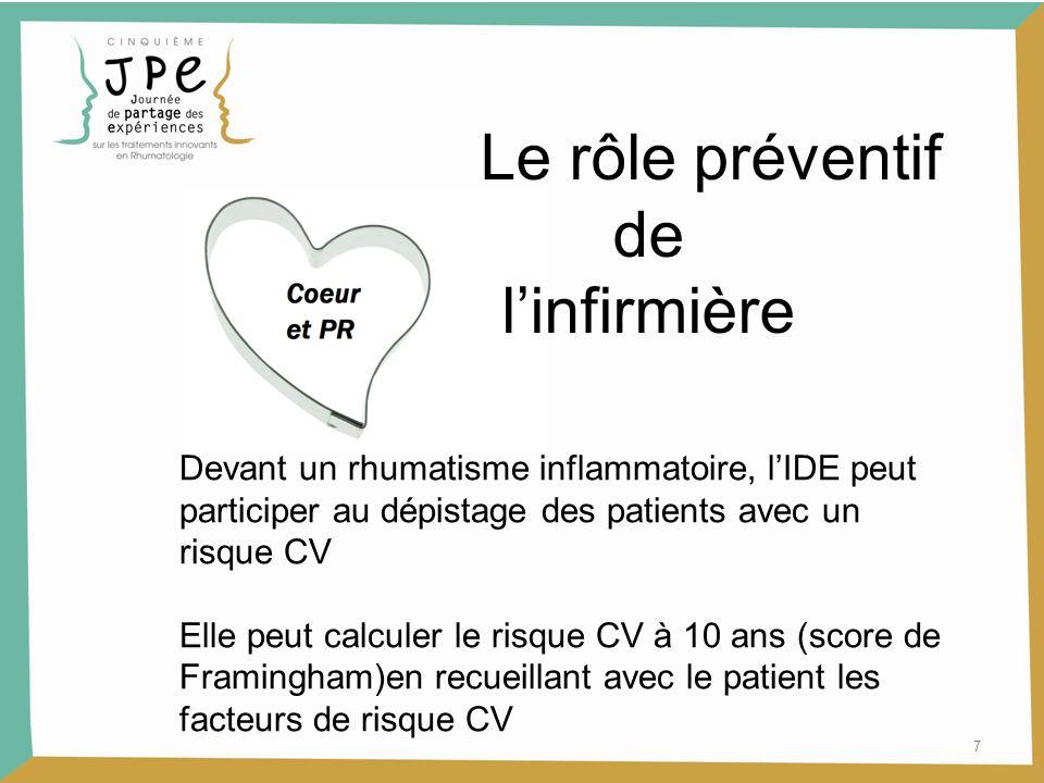 Le rôle préventif de l'infirmière