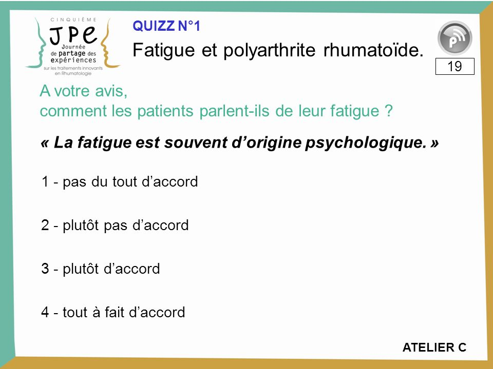« La fatigue est souvent d'origine psychologique. »